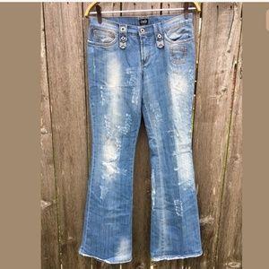 Dolce & Gabbana Jeans Sz 29 Distressed Flare Leg